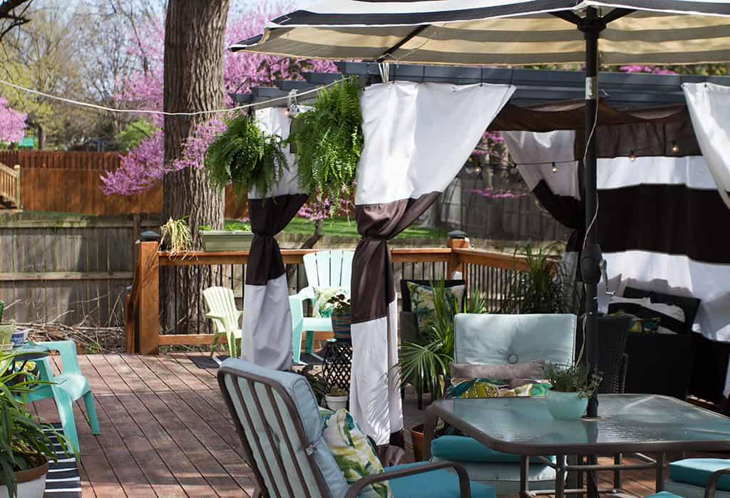 Audrey of Oh So Lovely Blog shares her deck cabana and outdoor spring spruce up wishlist from Joss and Main