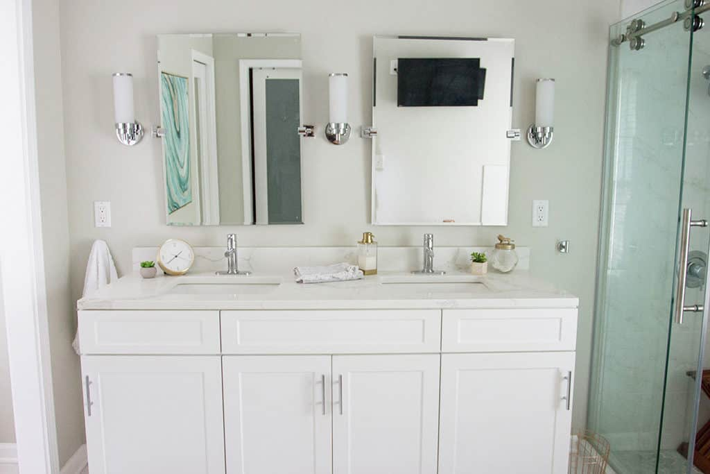 Our Master Bathroom Remodel See The Before Afters All Product Adorable Quick Bathroom Remodel