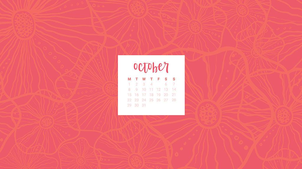 FREE October desktop calendars