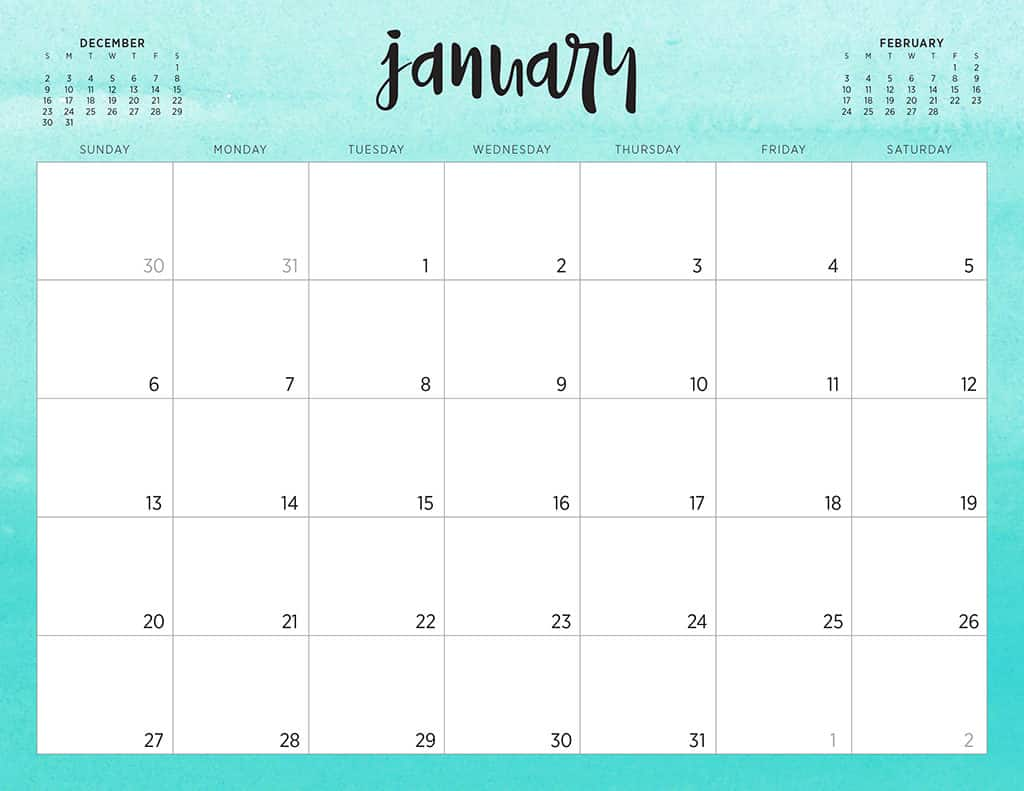 Free 2019 Printable Calendars 46 Designs To Choose From