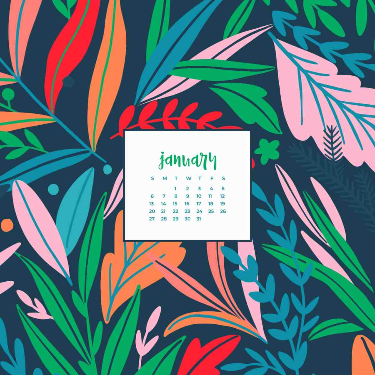 Oh So Lovely Blog Shares 4 Free January 2018 Wallpapers In Both