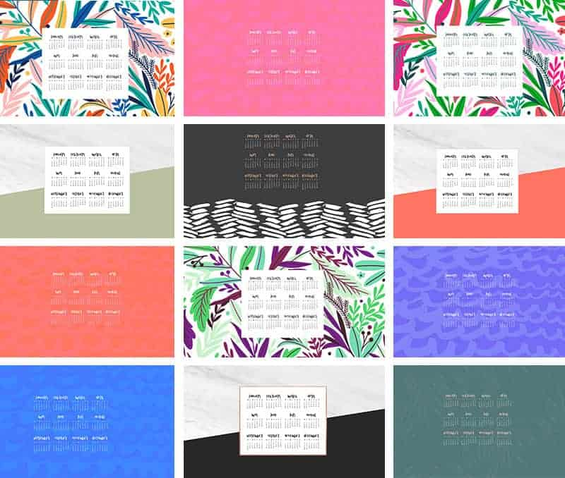 FREEBIES  //  2019 DESKTOP WALLPAPER CALENDARS