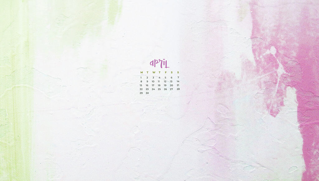 Audrey of Oh So Lovely Blog shares 12 FREE April 2019 desktop wallpaper calendars available in both Sunday and Monday starts for desktop and smart phone. Download yours today!