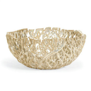 Cutwork Bowl Ivory Cream Brown