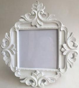 White Photo Frame Ornate Cynthia