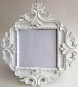 White Photo Frame Ornate Cynthia