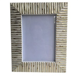Picture Frame White & Gold Striped Picture Frame White & Gold Striped Wedding Rental