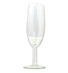 Large Clear Champagne Glass