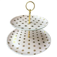 Light Pink Dessert Tray Gold Dots