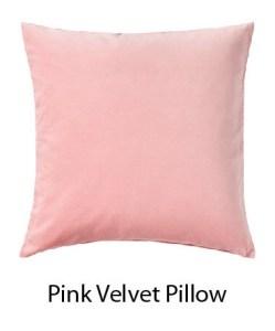 Pink Velvet soft Pillow