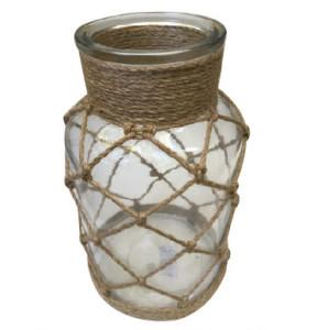 Ornate Glass Jar Candleholder