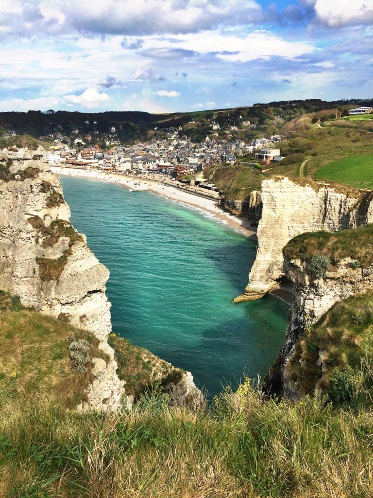 Falésias em Étretat, Normandia