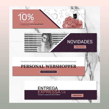 Banners para Website - Oh, Thaís!