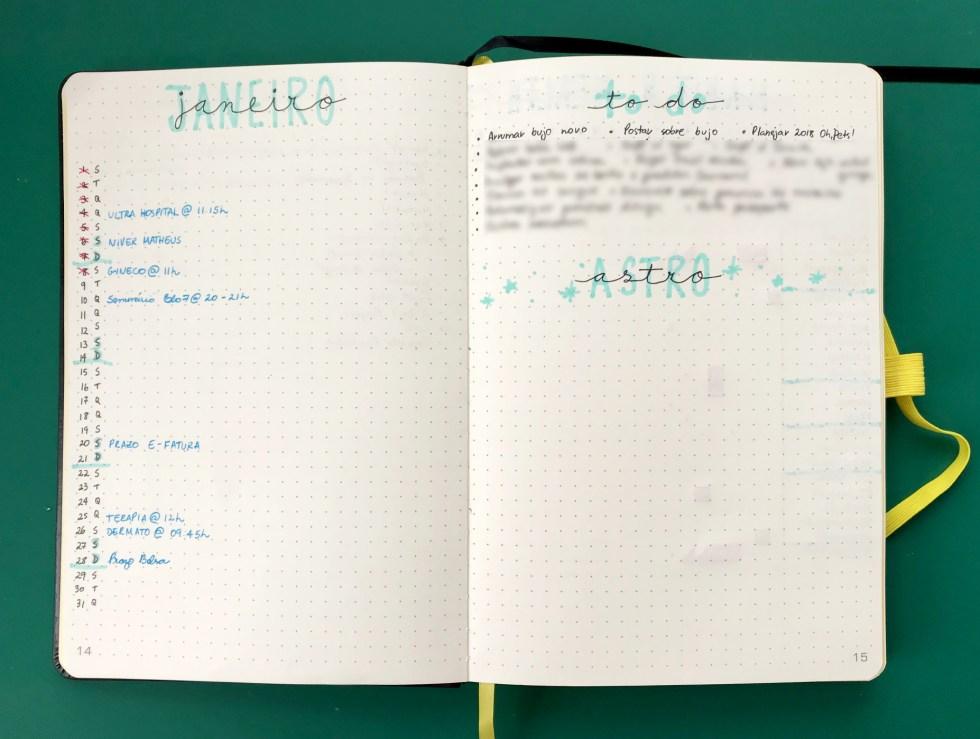 Monthly Log - Bullet Journal