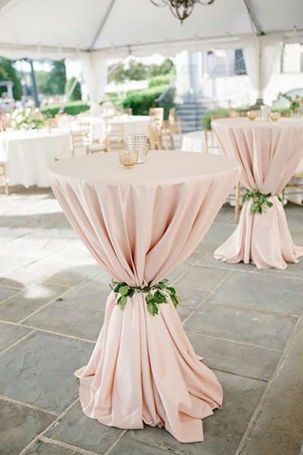 wedding cocktail table decoration ideas