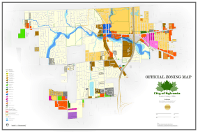"""This is the """"Official Zoning Map"""" for the City of Sylvania. The map uses symbology representations to visually display more detail and a figure-ground feathering technique with buffers to help highlight the area of interest and fade the background into white space. More Info"""