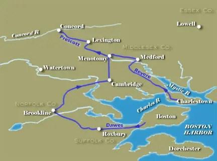 Revere Ride Map