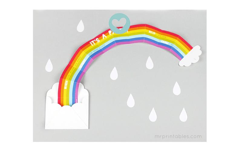 Print je eigen regenboog uitnodiging!