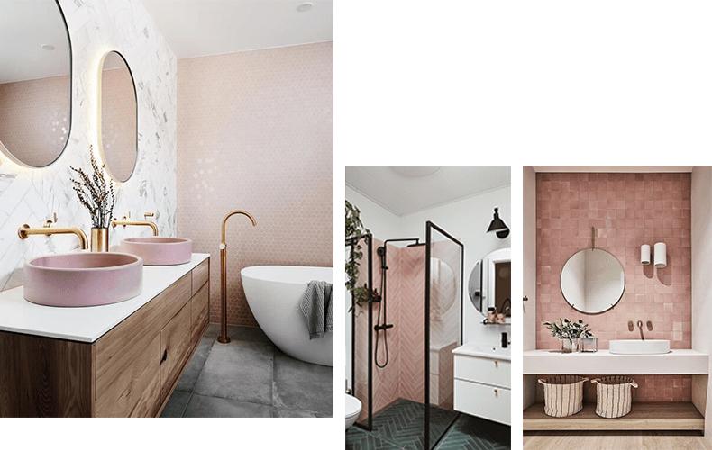 roze tegels badkamer