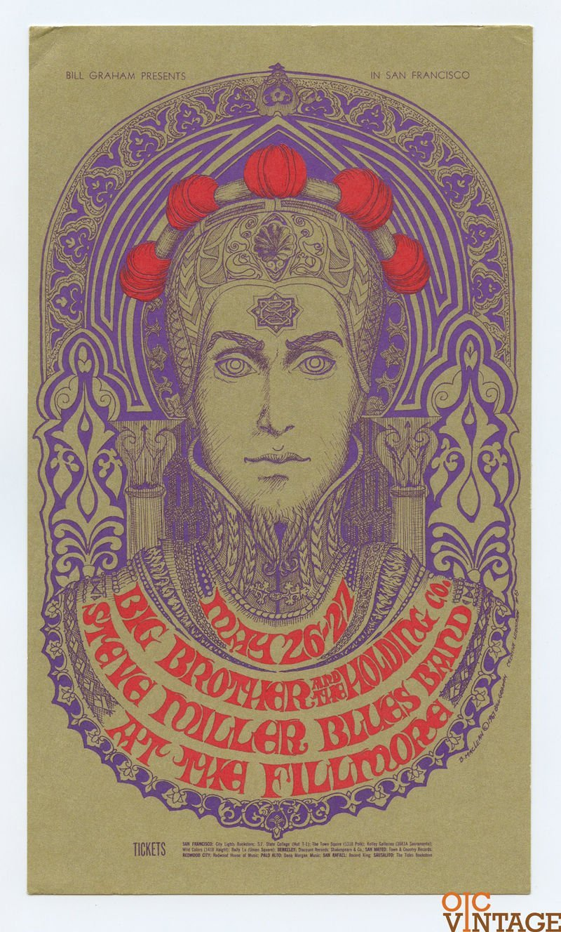 Bill Graham 65 Postcard Mailed Big Brother and the Holding Company 1967 May 26