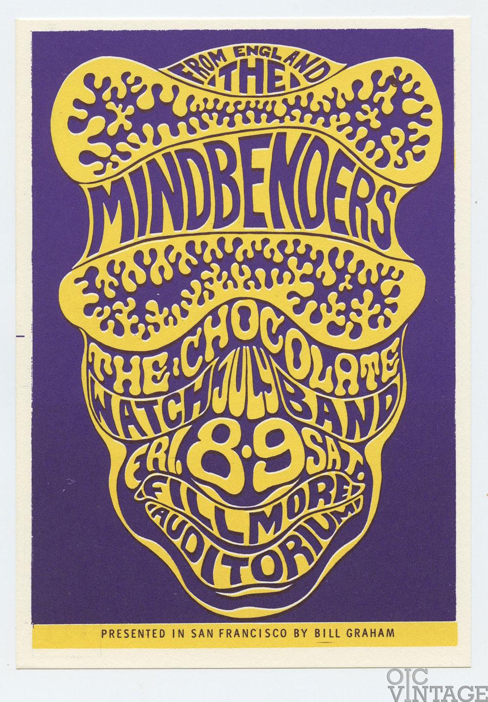 Bill Graham 16 Postcard Mindbenders 1966 Jul 8