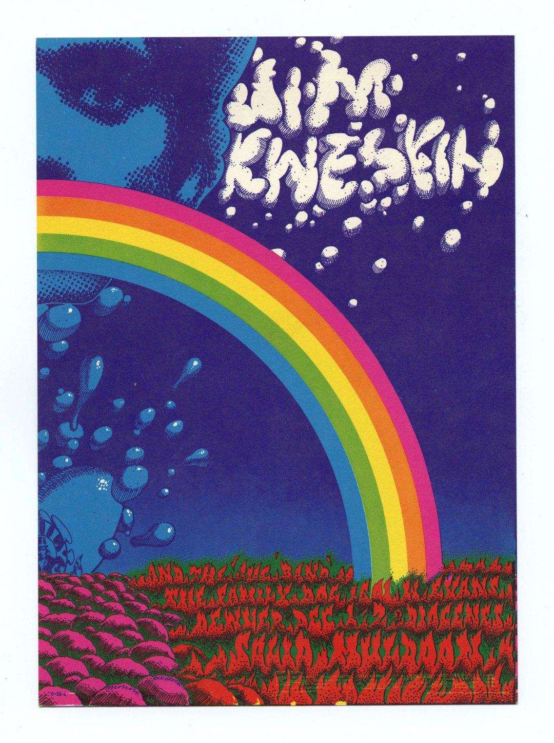 Family Dog Denver 13 Postcard Denver Splash 1967 Dec 1 Jim Kweskin Jug Band