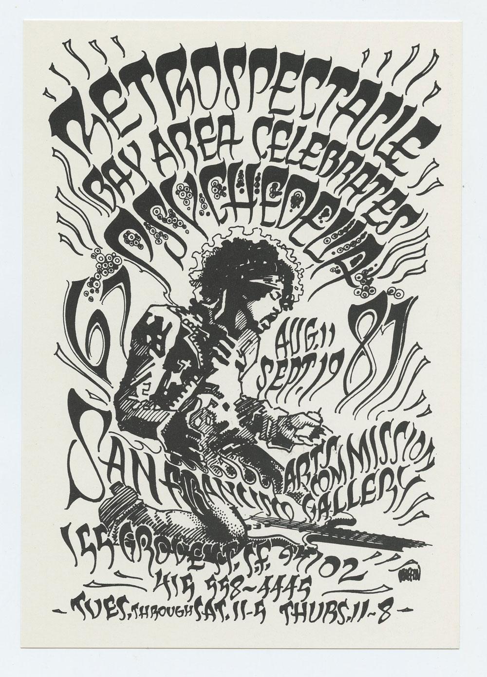 Rick Griffin Postcard RETROSPECTACLE 1987