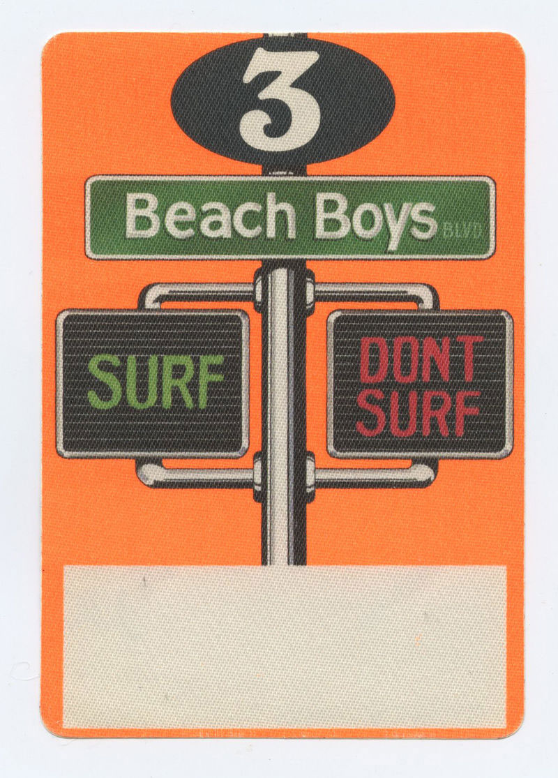 The Beach Boys Backstage pass Surf Don't Surf 1991