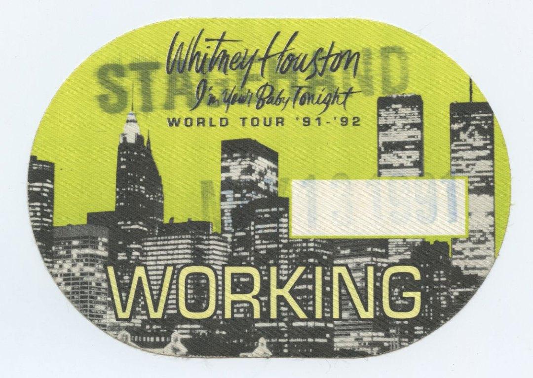 Whitney Houston Backstage Pass 91-92 I'm Your Baby Tonight