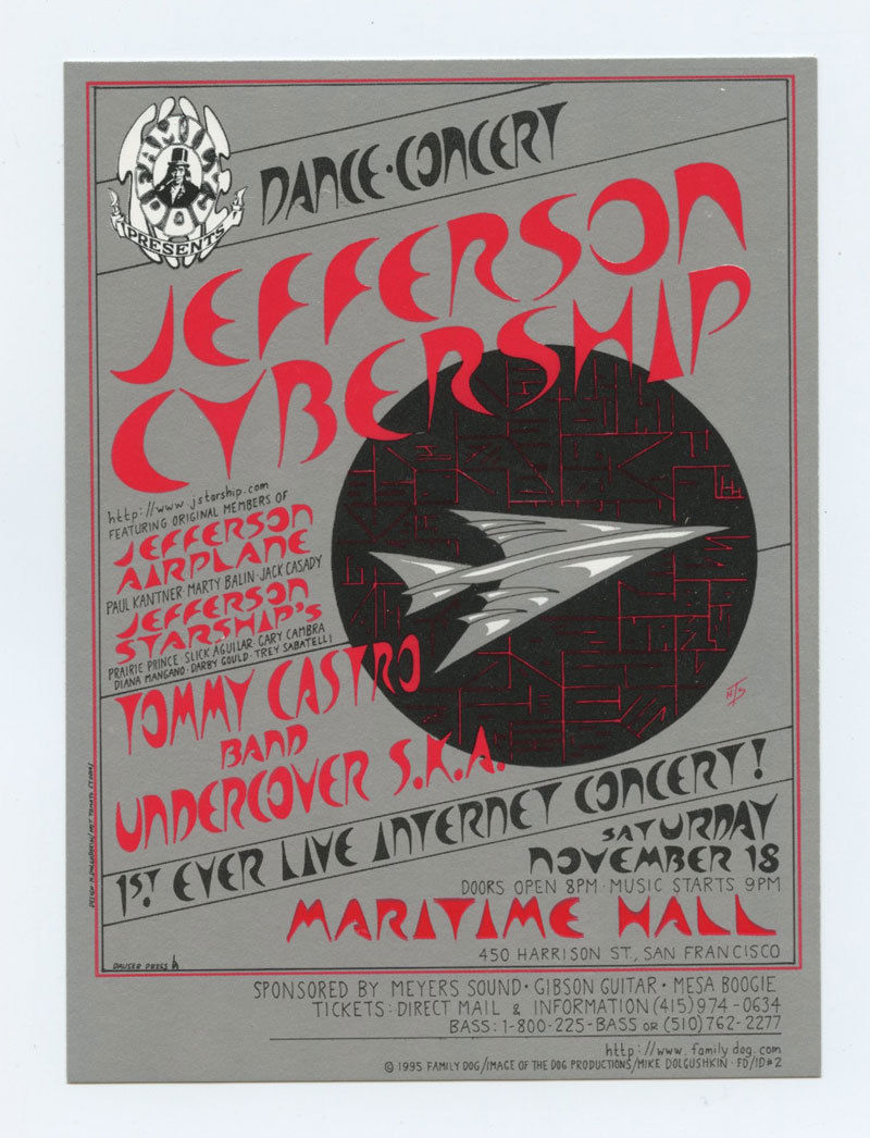 Maritime Hall Handbill 1995 Nov 18 Jefferson Cybership