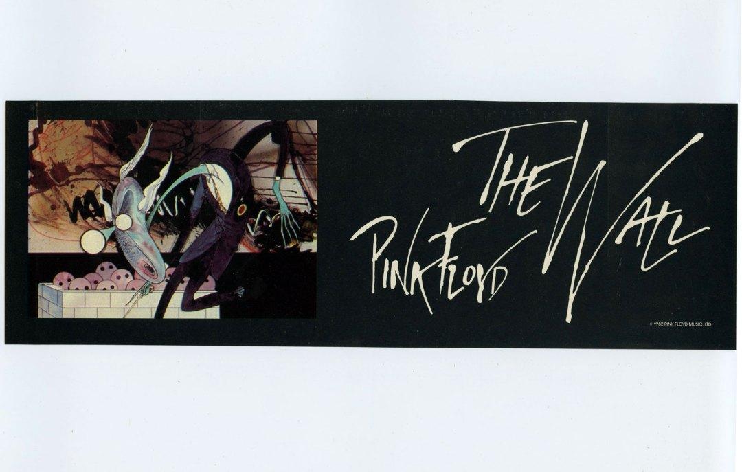 Pink Floyd Sticker Decal 1982 Vintage