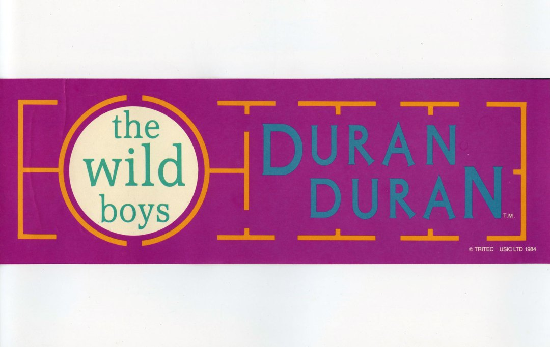 Duran Duran Sticker 1984 Vintage