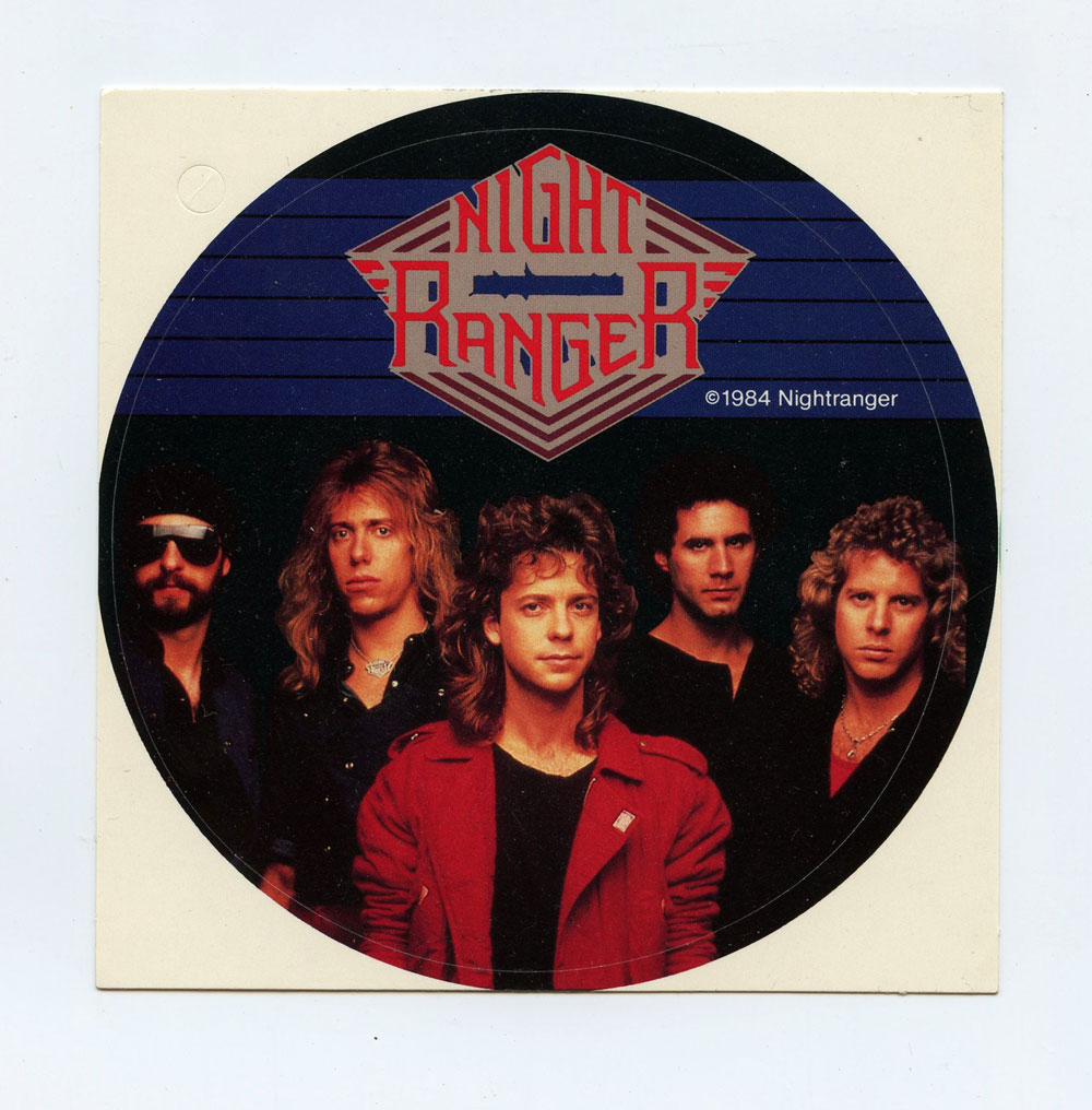 Night Ranger Sticker Decal 1984 Vintage