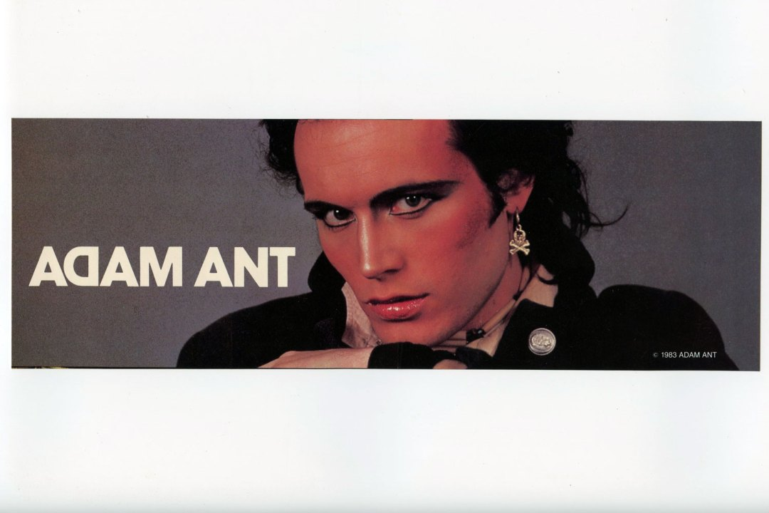 Adam Ant Sticker Decal 1984 Vintage