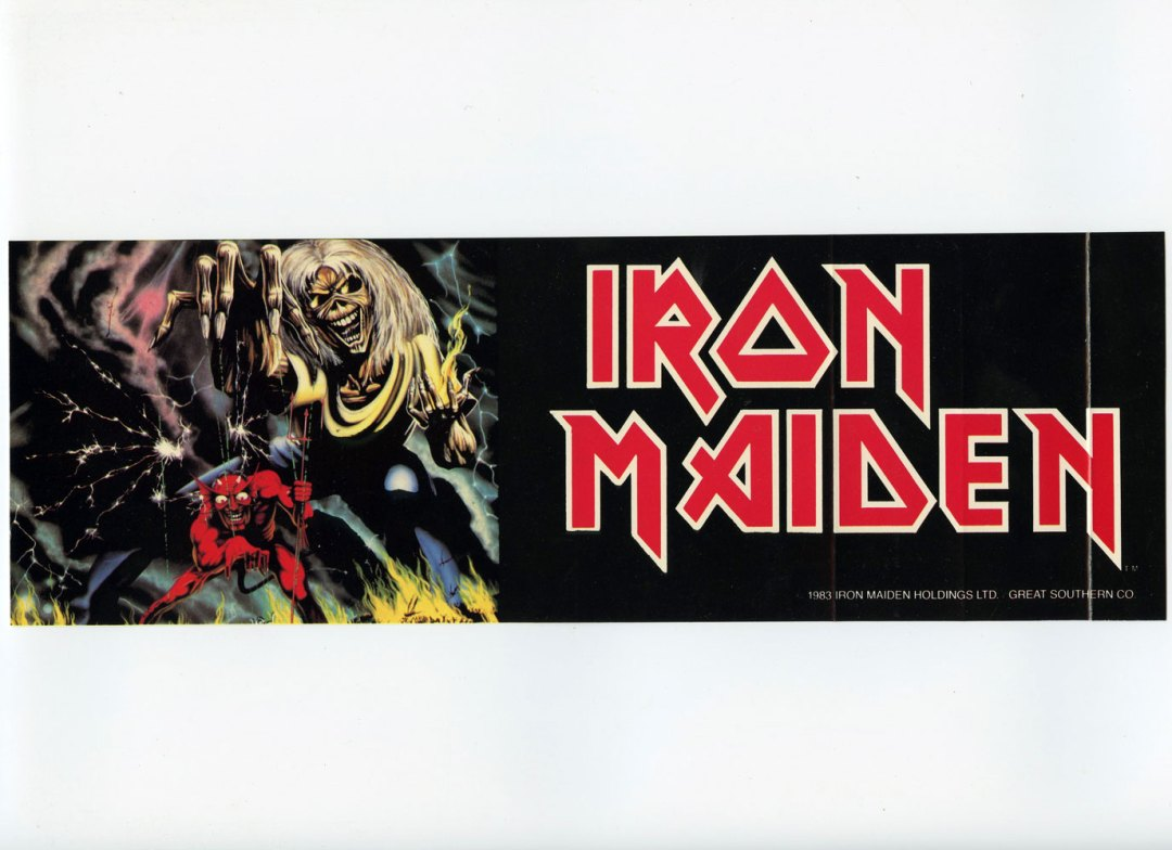 Iron Maiden Sticker Decal 1983 Vintage