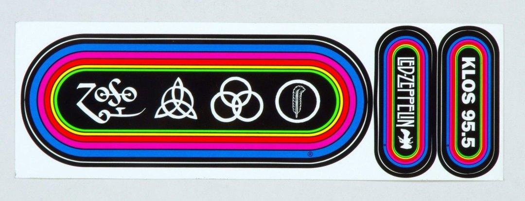 Led Zeppelin Sticker Mothership CD set Promo