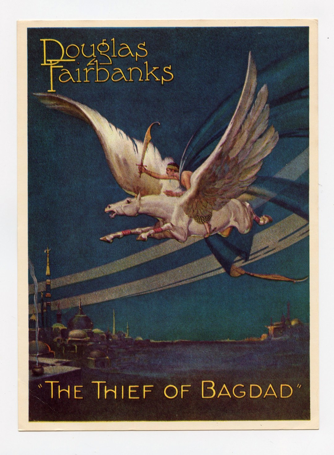Douglas Fairbanks Postcard The Thief of Bagdad