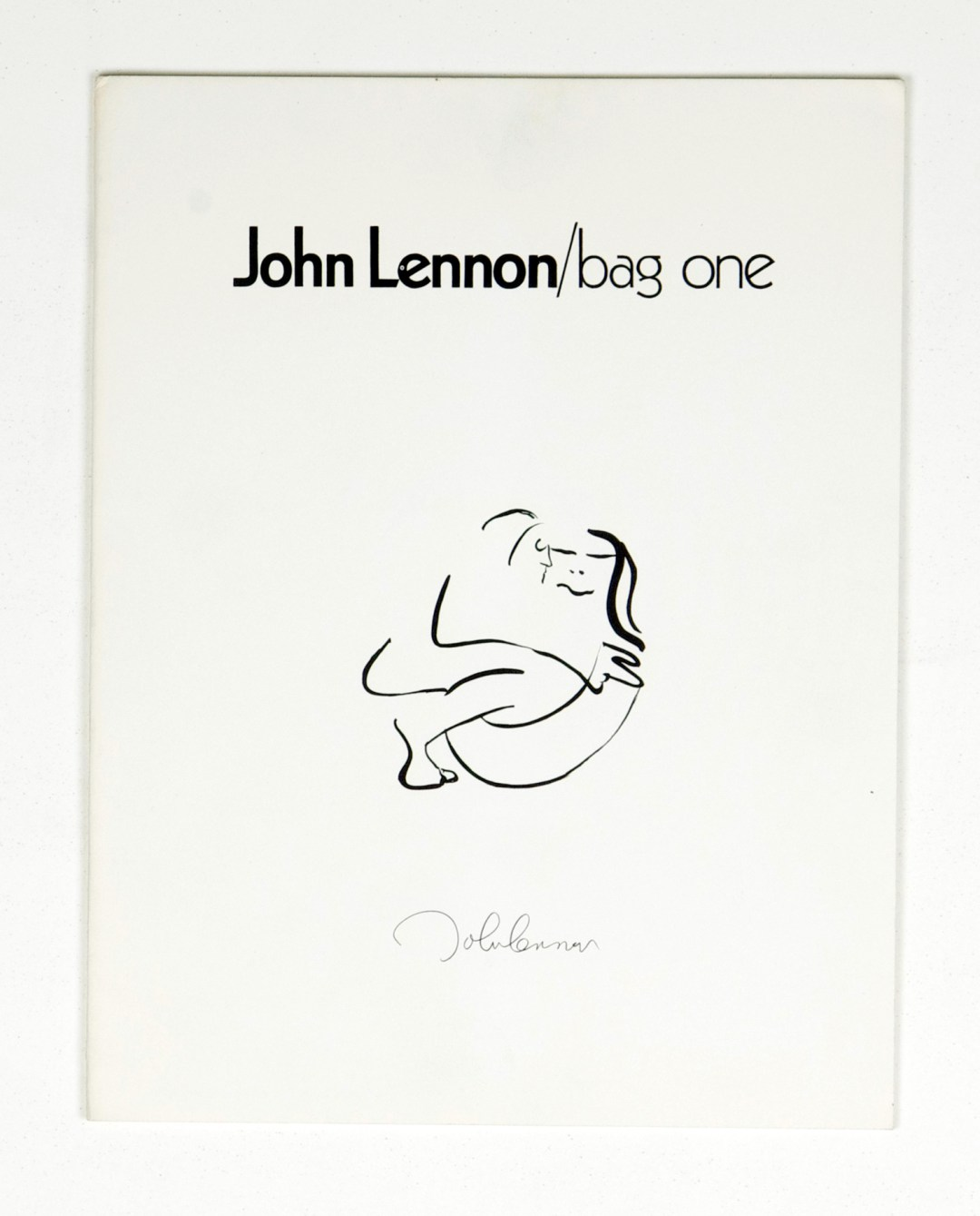 John Lennon the Bag One Portfolio Catalog w/ Lee Nordness Gallery Letter 1970