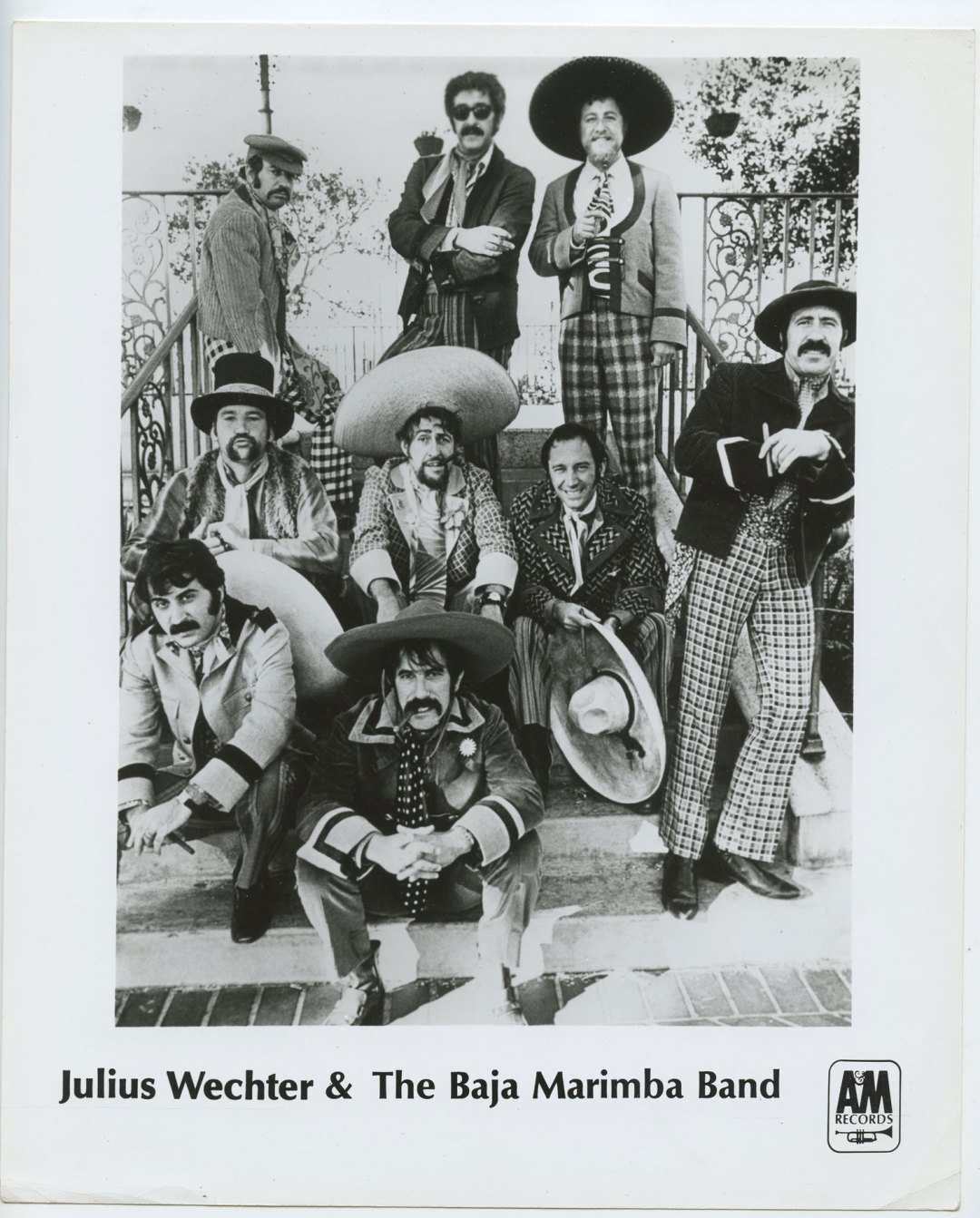 Julius Wechter Baja Marimba Band Photo 1971 Publicity Promo A&M Records
