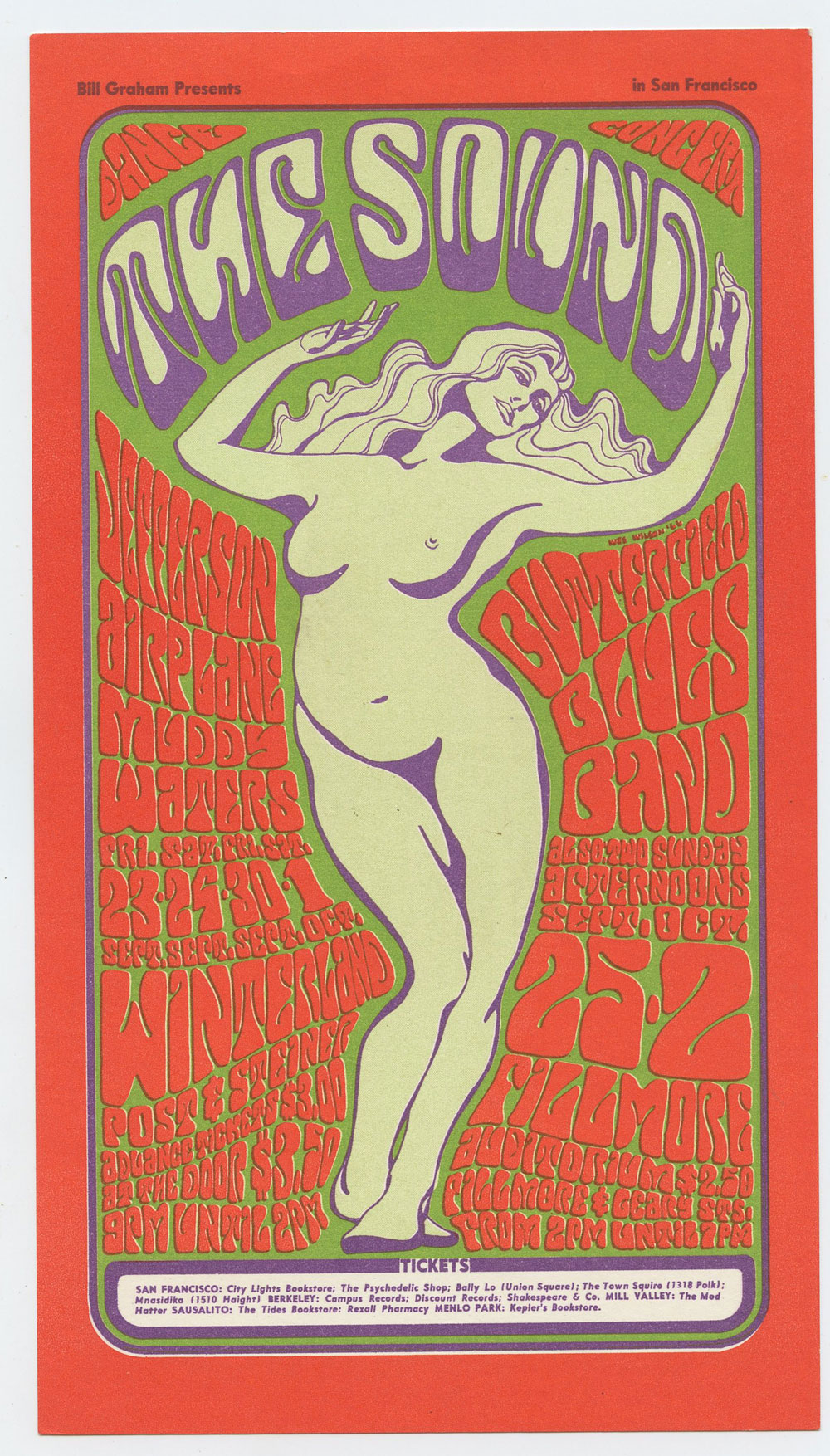 Bill Graham 029 Handbill Very Fine Condition