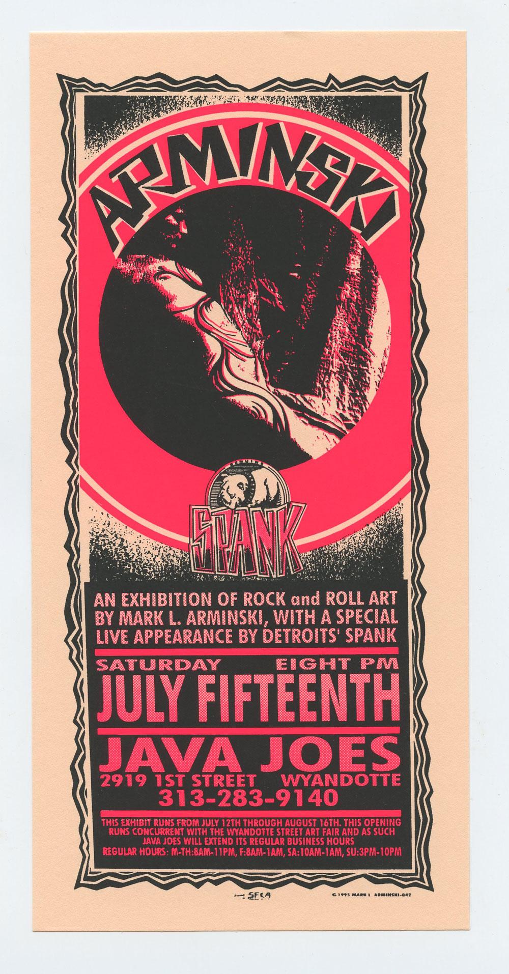 Exhibition of Rock and Roll Art 1995 Jul 15 Handbill Mark Arminski