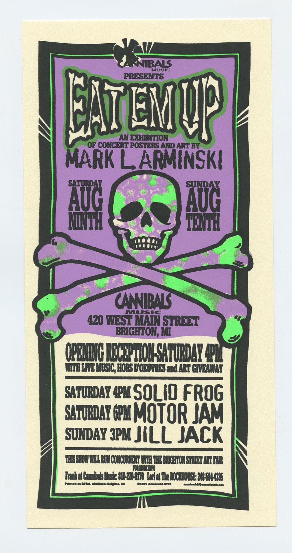 Eat Em Up Exhibition of Concert Posters & Art 1997 Aug 9 Handbill Mark Arminski