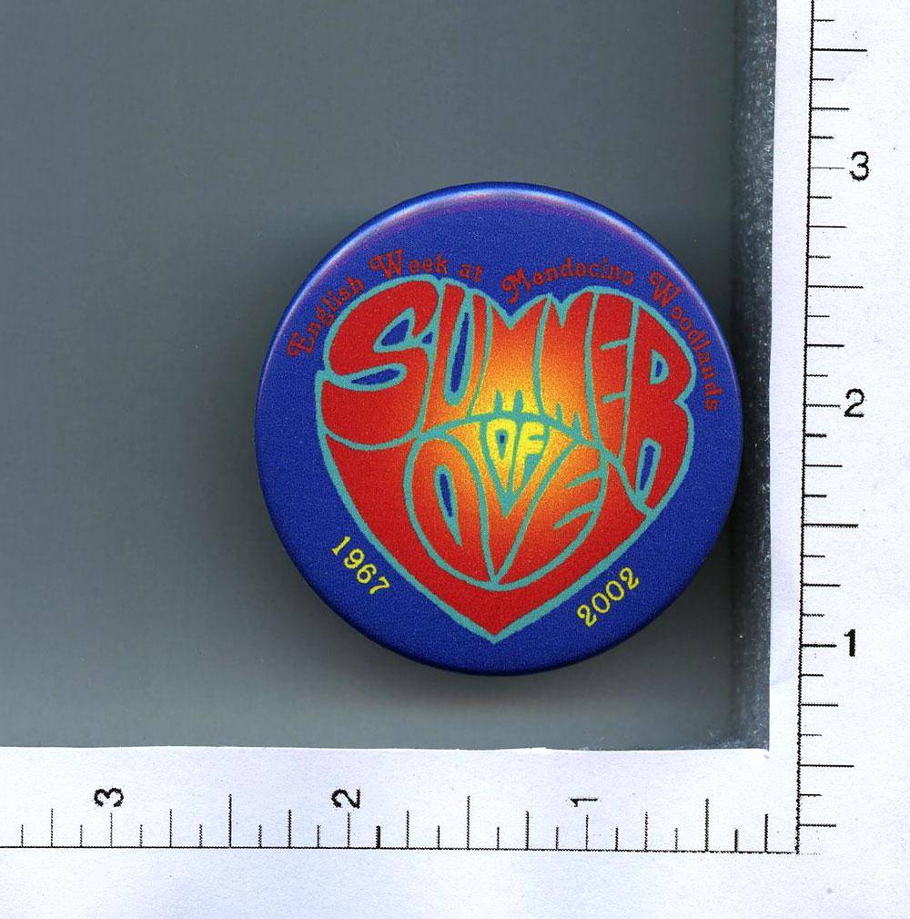 Summer of Love Button 2002 2 1/4