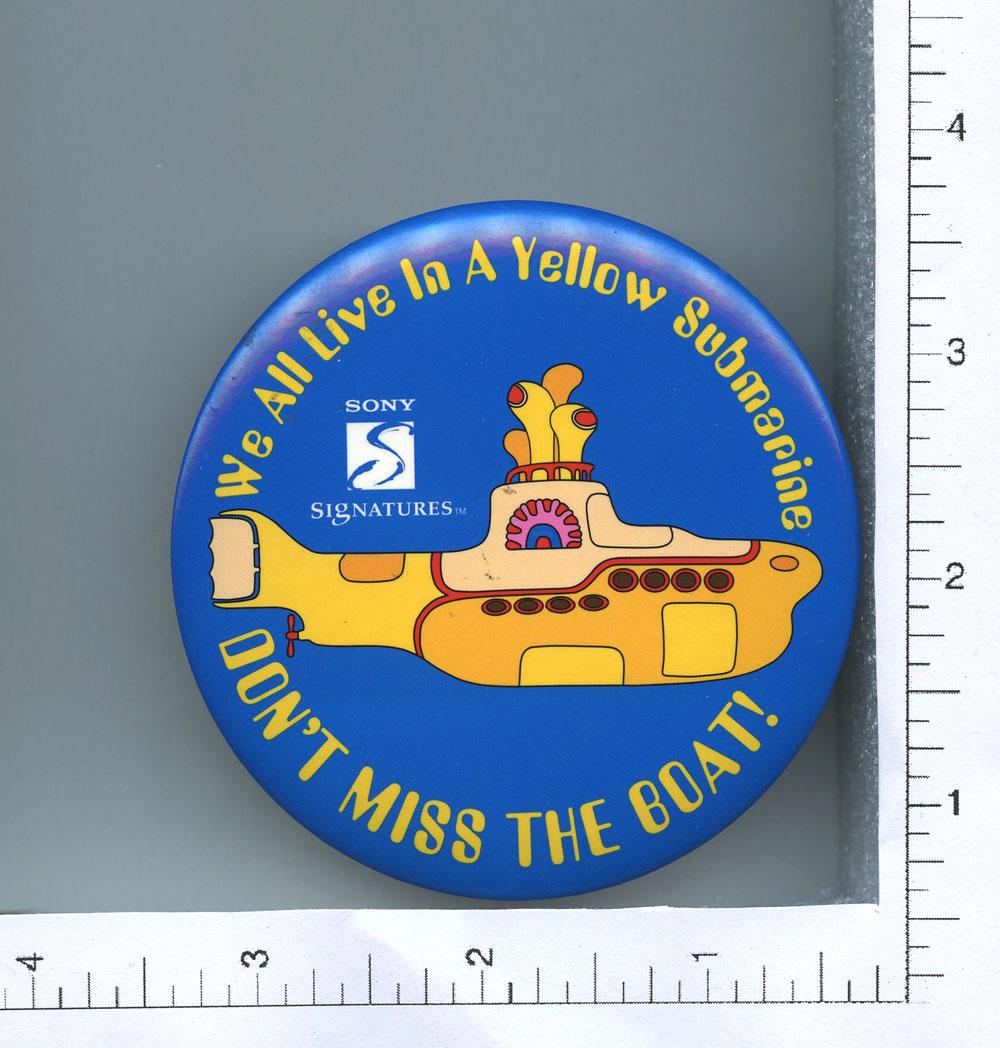The Beatles Button 1999 Yellow Submarine 3 1/2
