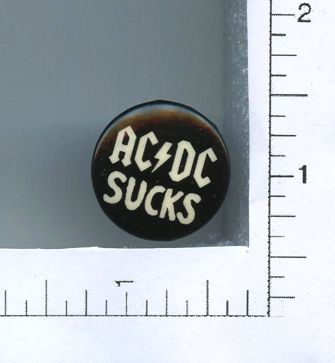 "AC/DC Button Sucks 2005 1"" diameter"