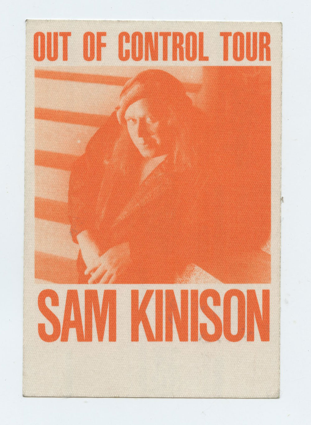 Sam Kinison 1989 Out Of Control Tour Backstage Pass