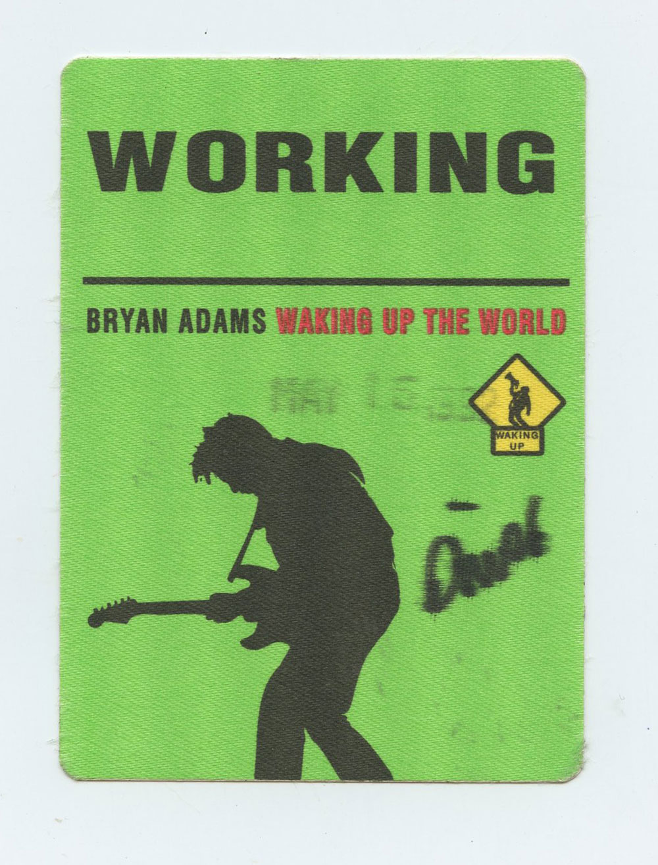 Bryan Adams Backstage Pass 1992 Waking Up The World Tour