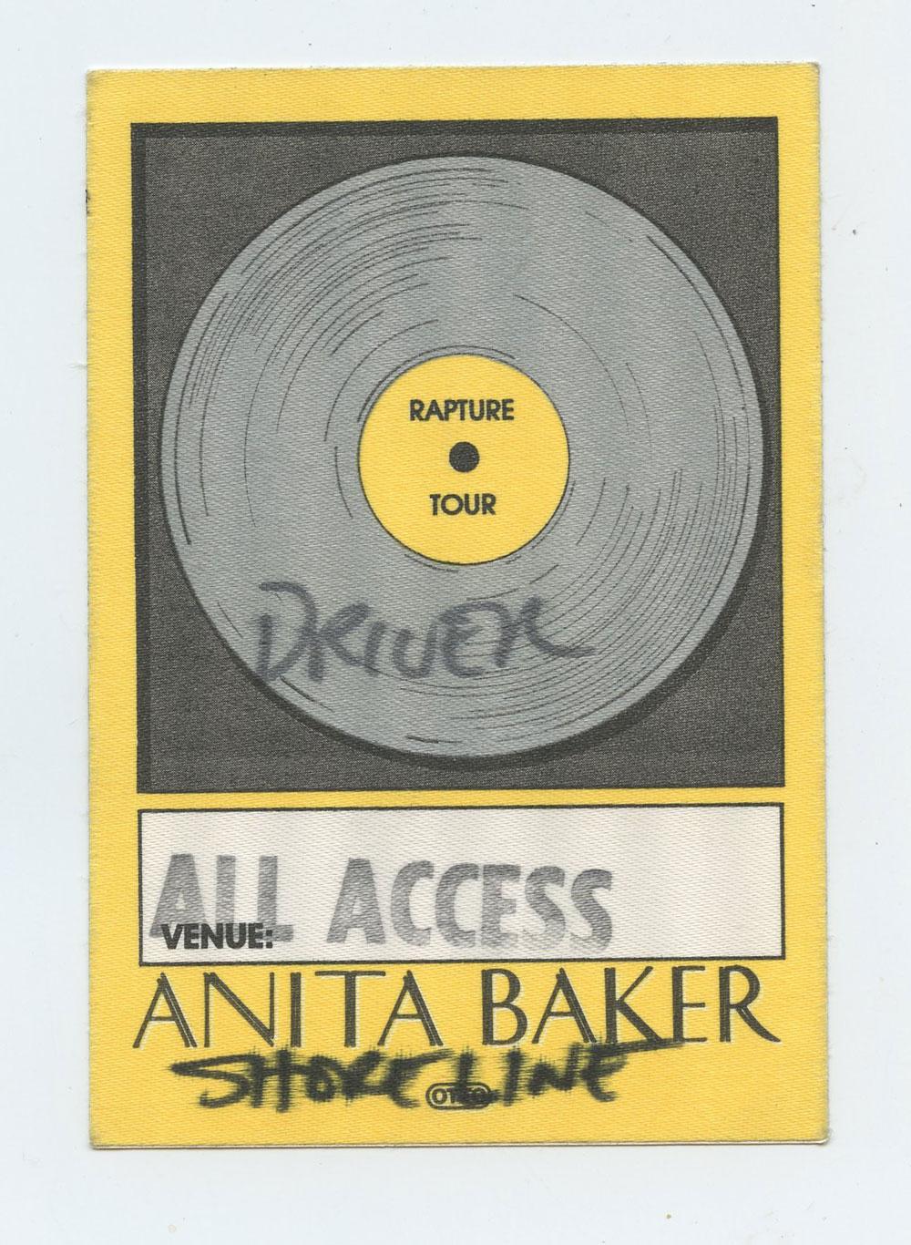 Anita Baker Backstage Pass 1986 Rapture Tour