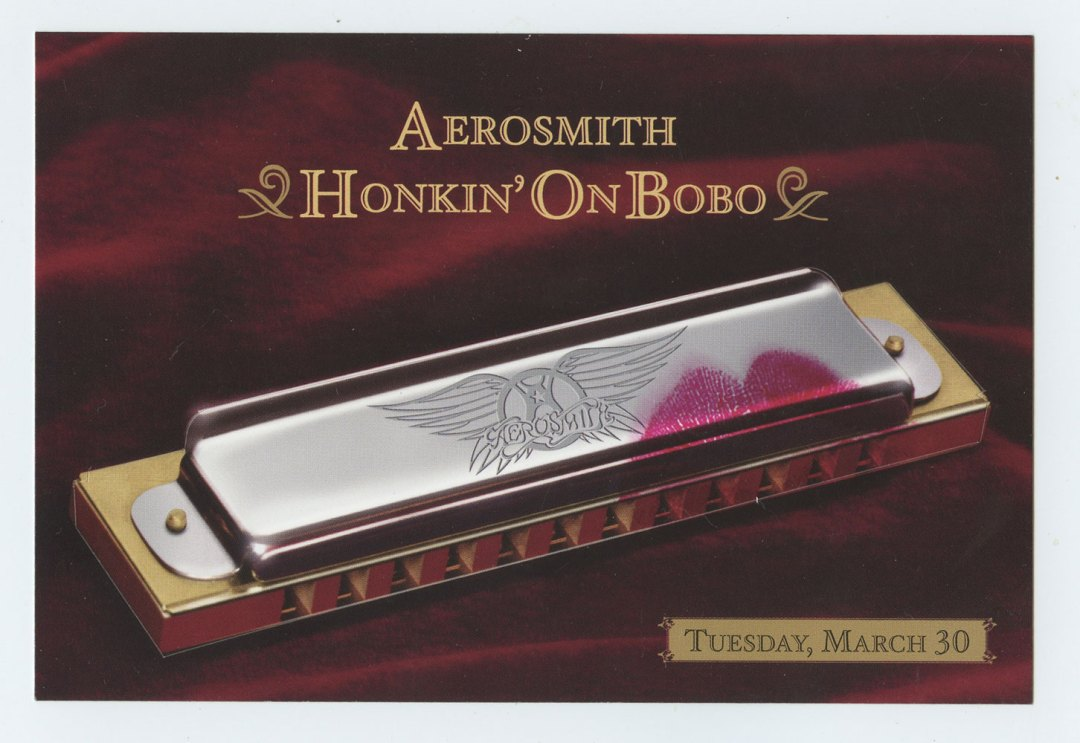 Aerosmith Postcard Honkin' On Bono Promo 2004