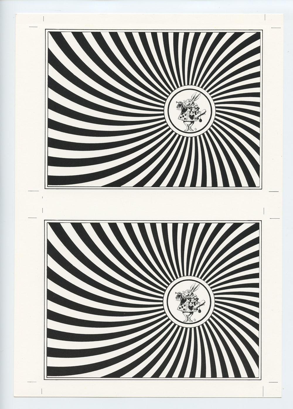 Blotter Acid Art Exihibit Reception Postcard Uncut Through The Looking Glass 1992 ARTROCK